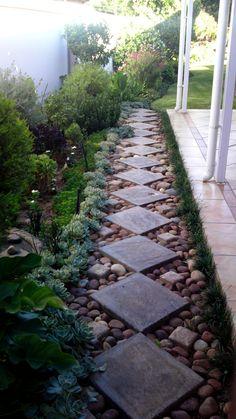 Garden pathway - 55 Gorgeous Rock Pathway Design Ideas To Enhance Your Beautiful Garden 13 Path Design, Landscape Design, Design Ideas, Landscape Steps, Rock Garden Design, Landscape Rocks, Landscape Plans, Design Concepts, Gravel Garden