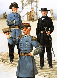 Confederate generals of the West - Sterling Price, Pierre Beauregard and Albert Sidney Johnston.