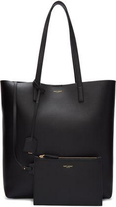 c273ef865d Saint Laurent - Black Medium Shopping Tote Bag Ysl Tote Bag