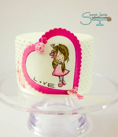 Love is in the air... - Hand painted on fondant, hope you like it :-) xx