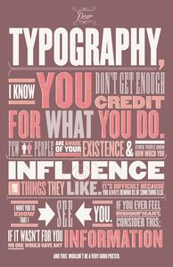 thebirdsandthebeasts — Dear Typography: this is great! I love you, Typography!