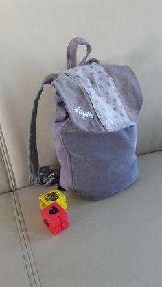 79cabe9ae7 Sac à dos maternelle garçon étoile grise, sac à dos personnalisable prénom