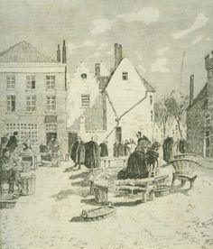 Henri Cassiers - Le vieux marché aux poissons à Bruges