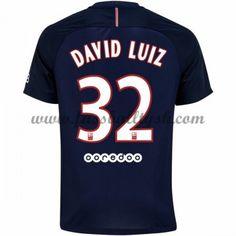 Ligue 1 Fussball Trikots Paris Saint Germain Psg 2016-17 David Luiz 32 Heimtrikot Kurzarm