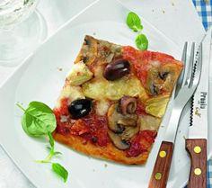 Check the complete recipe of this Capricciosa Pizza