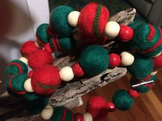 Felted garland for christmas