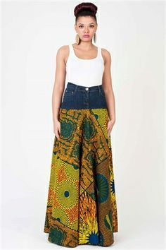 african designs and denim skirts - Google Search