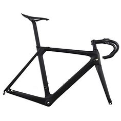 Road Bike Frames - ICAN Aero 700c Carbon Road Bike Frameset with Handlebar Stem Seatpost and Saddle 5052545658cm -- You can find out more details at the link of the image.