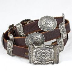 Concho Belts - Sterling Silver Conchos, Turquoise Conchos, Southwestern Concho Belts, Native American Concho Belts | Black Arrow - Black Arrow Indian Art