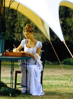 Gwyneth Paltrow as Emma Woodhouse in Emma (1996). I really want to be her in this scene.......alw