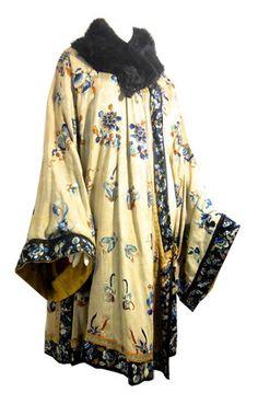 Orientalist Embroidered Silk Opera Coat circa 1920s