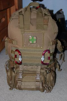I wanted to post some pictures as well as a complete inventory of my GHB/72 hour bag i have put together. First, I want to explain a few things that may raise question. This bag was made for the ready for some sort of natural disaster (earthquake, floods, volcano, etc.). I am a Firefighter trained in BLS(Basic Life Support) and may be taking this bag to help administer medical aid as needed in such an emergency. Hence the reason for all the medical supplies. Yes, I know ther