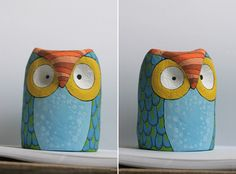 Javiera Donoso Romo: Owl Paper Mache Creation