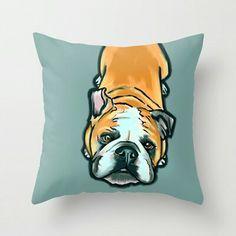 Bulldog Cushion $20 Society6.com