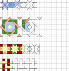 Blackwork Patterns, Zentangle Patterns, Quilt Patterns, Graph Paper Drawings, Graph Paper Art, Bargello Quilts, Math Art, Doodle Art, Pixel Art