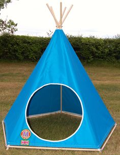 Super Cool Blue Children's Teepee / Tipi / Play Tent by: www.mohicantents.co.uk