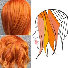What's better than a stylist sharing her formula for one of your favorite looks? When the stylist shares the formula AND a head sheet that shows you exactly where to place each color. Here's how Lopiccolo ( achieved this gorgeous orange blend. Red Hair Color, Cool Hair Color, Hair Color Placement, Pelo Rasta, Fire Hair, Hair Color Techniques, Copper Hair, Grunge Hair, Hair Painting