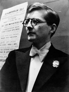 The composer Dmitri Shostakovich. 1941. Photo by Arkady Shaikhet.