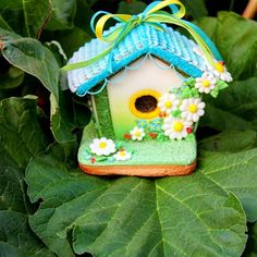 gingerbread house bird house