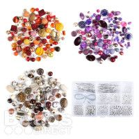 Be inspired by the gorgeous selection of unique beads in this brilliant bundle! Acrylic Feature Bead Bundle 600g with Silver Plated Findings Kit
