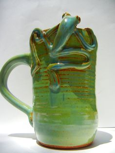 Frog Mug by TeriWhitnerArt on Etsy