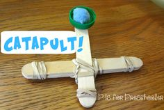 P is for Preschooler: Homemade Catapult