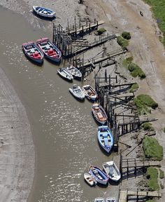 Morston Quay in north Norfolk - aerial image   by John D F