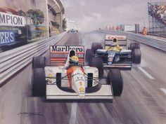 Montei essa seqüência para apreciar os detalhes da evolução dos carros de corrida. As pinturas são de Michael Turner e as demais figuras eu ...