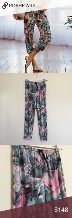 Onzie + Movement collab paradise crop joggers S/M Beautiful printed pants with drawstring. Excellent condition. These are RARE and hard to find! Bundle to save 25%! Onzie Pants