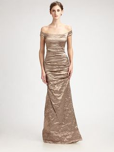 Nicole Miller champagne gown