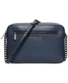 MICHAEL Michael Kors Jet Set French Binding East West Small Crossbody - MICHAEL Michael Kors - Handbags & Accessories - Macy's