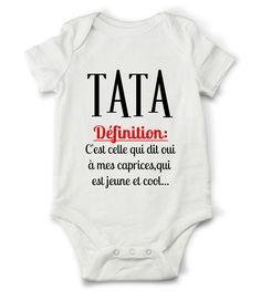 Body grenouillère définition de tata... : Mode Bébé par creatike