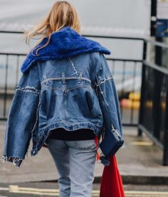 denim + blue fur