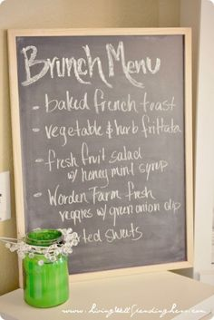 Brunch Menu- love it. Could use our white board too!