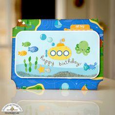 Doodlebug Design Inc Blog: Anchor's Aweigh Collection: Little Boy Card Trio by Courtney