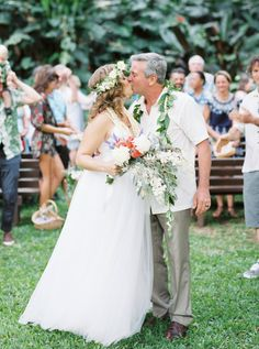 A sentimental Waimea Valley wedding on Oahu Island in Hawaii. Beautiful bride Michelle was expecting at this time and her ethereal tulle gown looked perfect Waimea Valley, Tulle Gown, Hawaii Wedding, Oahu, Beautiful Bride, Bouquets, Wedding Venues, Alice, Wedding Inspiration
