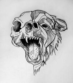 sketchy bear by Angel Mae Art