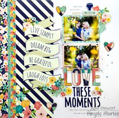 Layout from creative team member Allie Stewart using the Posh scrapbook collection!