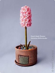 Мастер-класс, Флористика Лепка: Цветы из холодного фарфора - Часть 2. Гиацинт. Подробный МК для начинающих Фарфор холодный