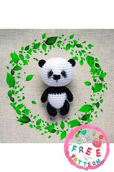 amigurumi for beginners; Crochet Panda, Crochet Bear, Amigurumi Doll Pattern, Amigurumi For Beginners, Little Panda, Magic Circle, Baby Elephant, Free Pattern, Kids Rugs