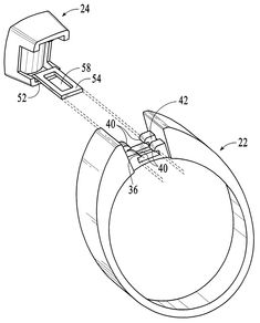 Hidden Jewelry Mechanism:  Patent US6715314 - Interchangeable ring system - Google Patents