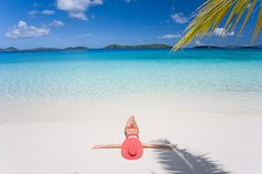 Relaxing and sunbathing on tropical island beach in paradise. I Need Vitamin Sea, I Love The Beach, Island Beach, Travel And Leisure, Beach Art, Summer Beach, Summer Days, Oh The Places You'll Go, Summertime