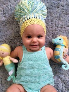 Baby Yarn Wigs. Baby Headband Wigs. Bubba Bun by BubbaBabyBuns