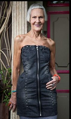 Fashion rebel: Jean Woods, 75, says that she wears whatever she fancies and has no intention of toning things down.