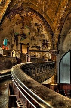 Ruin, St. Curvy's Abandoned Church in Detroit, Michigan by melanie