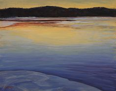 "Reservoir Ice, Close of Day by Anne Johann Oil ~ 11"" x 14"""