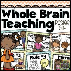 Whole Brain Teaching Poster Set {Chevron Classroom Set}Includes:The 5 Classroom rules:1. Follow directions quickly.2. Raise your hand for permission to speak.3. Raise your hand for permission to leave your seat.4. Make smart choices.5. Make your dear teacher happy.Whole Brain Teaching posters:1.