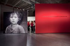 Studio Beige large scale graphic and bold color in exhibition design