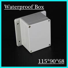 115*90*68mm IP65 ABS Junction Box / Plastic Screw Type Waterproof Enclosure