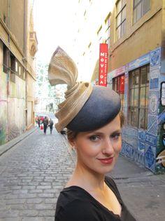 Sculpted beret (and great location) Visit https://www.facebook.com/FratimanKingaDesign